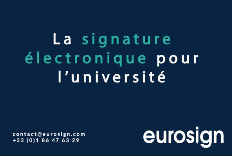 La signature électronique pour l'université