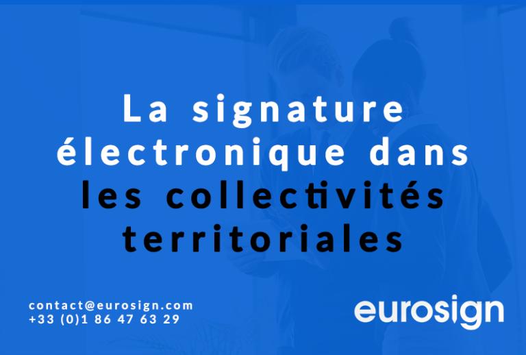 La signature électronique dans les collectivités territoriales