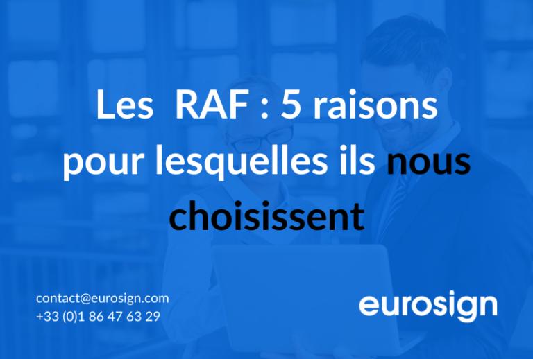 Les RAF : 5 raisons pour lesquelles ils nous choisissent