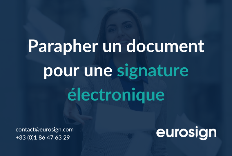 Le paraphe et la signature électronique